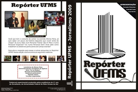 Capa para o DVD do telejornal Repórter UFMS