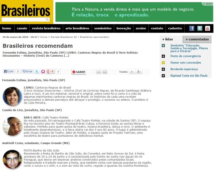 Revista Brasileiros - Andriolli