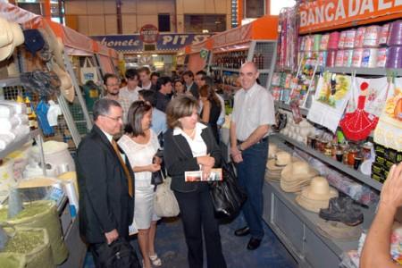 Grupo visitou o Mercado Municipal de Campo Grande, onde 100% dos empreendedores estão formalizados