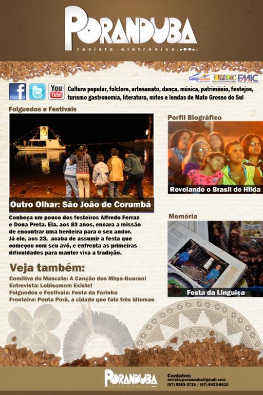 Primeiro newsletter da Revista Poranduba